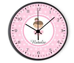personalized picture clocks ballerina personalized childrens decorative wall clock wall clock
