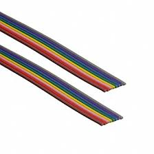 flat ribbon cable 9 conductor 250 roll multi color 28 awg