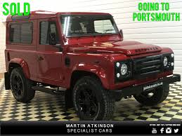 red land rover defender used land rover defender sold going to portsmouth for sale in