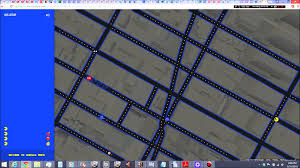New York Google Map by Playing Pac Man In Times Square Midtown Manhattan New York City On