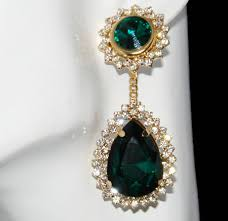 emerald drop large emerald green drop earrings