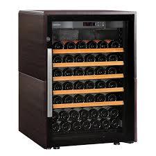 eurocave performance décor collection 83 wine cellar dark wood