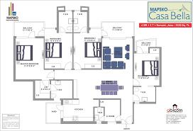 Casa Bella Floor Plan Mapsko Casa Bella Sector 82 Gurgaon