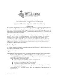 Ideas Collection Sample Internship Cover Ideas Collection Biomedical Design Engineer Sample Resume With