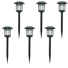 home depot path hton bay solar black outdoor integrated led 3000k 6 lumens