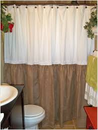 bathroom burlap shower curtain shower curtains with valance