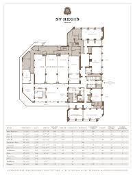 Schematic Floor Plan by Meeting Floor Plans In Houston St Regis Houston