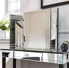 Mirrored Vanity Table Furniture Rectangle Mirrored Vanity Table Bedroom Furniture Set