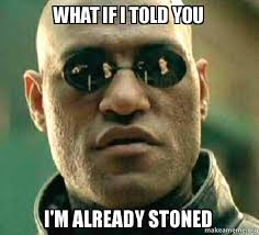 Stoned Meme - what if i told you i m already stoned matrix morpheus make a meme