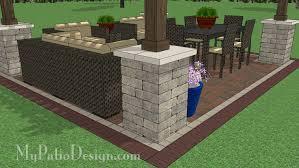 Large Brick Patio Design With 12 X 16 Cedar Pergola Outdoor by 14x16 Cedar Pergola Design With Columns Downloadable Plan