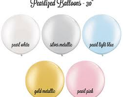 jumbo pearl and metallic balloons 30
