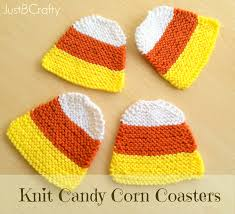 halloween coasters hand knit candy corn coasters just be crafty