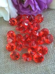 gems for table decorations 100 red confetti 3 4 wedding party table decoration scatter