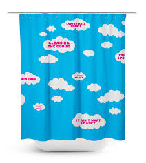 Shower Curtain Teal Cloudy Morning Shower Curtain By Crailtap Crailstore