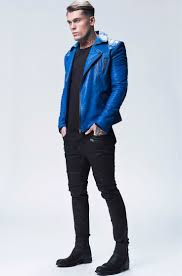 blue motorbike jacket best 25 mens blue leather jacket ideas on pinterest guy style