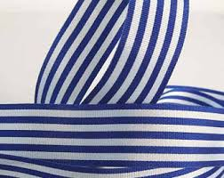 blue and white striped ribbon blue striped ribbon etsy