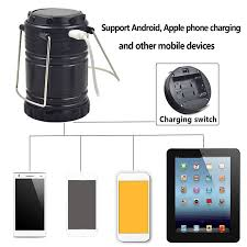 Light For Phone Solar Camping Flashlight Lantern Rechargeable Power Bank
