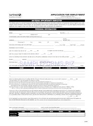 application templates safeway job application form safeway job
