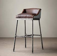 bar stool white leather saddle seat bar stool white saddle bar