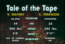 tale of the tape 118 lbs 53kg difference mma