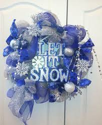 Blue Decorated Christmas Wreaths by Best 25 Christmas Reef Ideas On Pinterest Diy Door Wreaths