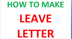 how to make leave letter to principal youtube