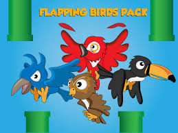 animated flapping bird 2d characters game graphics for indie devs