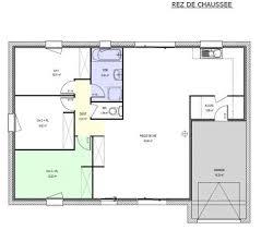 plans maison plain pied 3 chambres exceptionnel plan maison plain pied 3 chambres 100m2 10 plan