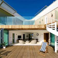 butterfly sofas and versa table in award winning uk beach house