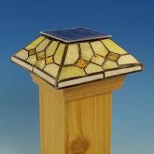 maine ornamental post cap solar snflwr 6x6 home