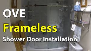 bathroom glass door installation ove frameless bathroom shower door installation youtube