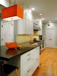 orange and white kitchen ideas countertops for small kitchens pictures ideas from hgtv hgtv