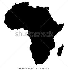 africa map black and white black white map africa stock vector 315166013