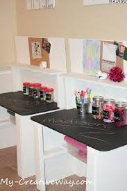 Kids Art Desk With Storage by My Creative Way Kids Art Center Tables