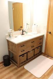 Oak Bathroom Vanity Units Driftwood Stained Oak Four Drawer Vanity Unit Tabula Rasa