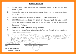 9 personal sworn statement sample parts of resume