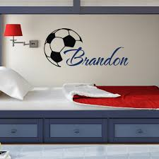 popular name wall buy cheap name wall lots from china name wall custome boys name wall decals with soccer art wall stickers personalized home kids room decor vinyl