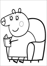 peppa pig coloring pages peppa and george sleeping coloringstar