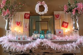 Decorate Mantel For Valentines Day by Pretty In Pink The Mantel Decorchick