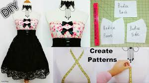 how to create your own patterns to make dresses and costumes diy