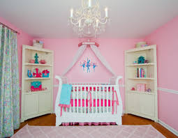 White Nursery Chandelier Enchanting Design Ideas Using White Loose Curtains And White Glass