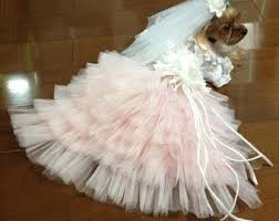 dog wedding dress etsy