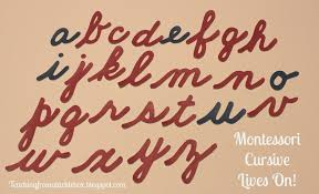 montessori cursive handwriting lives on teaching from a tackle