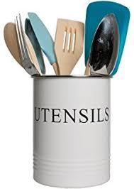 Designer Kitchen Utensils Amazon Com Now Designs Utensil Crock Ivory Kitchen U0026 Dining