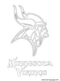 minnesota vikings logo football sport coloring pages printable