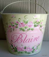 painted easter buckets personalized painted girl bunny easter basket ideas family