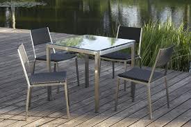 Steel Patio Chairs Outdoor Furniture Stainless Steel Vigo Dining Set Jen Joes