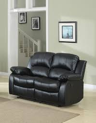 Black Leather Reclining Sofa And Loveseat Classic Reclining Loveseat Bonded Leather