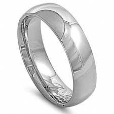 stainless steel wedding bands unisex 7mm comfort fit stainless steel wedding band