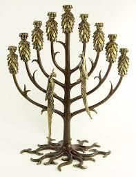 menorah tree of erté 1892 1990 parcel gilt bronze menorah tree of